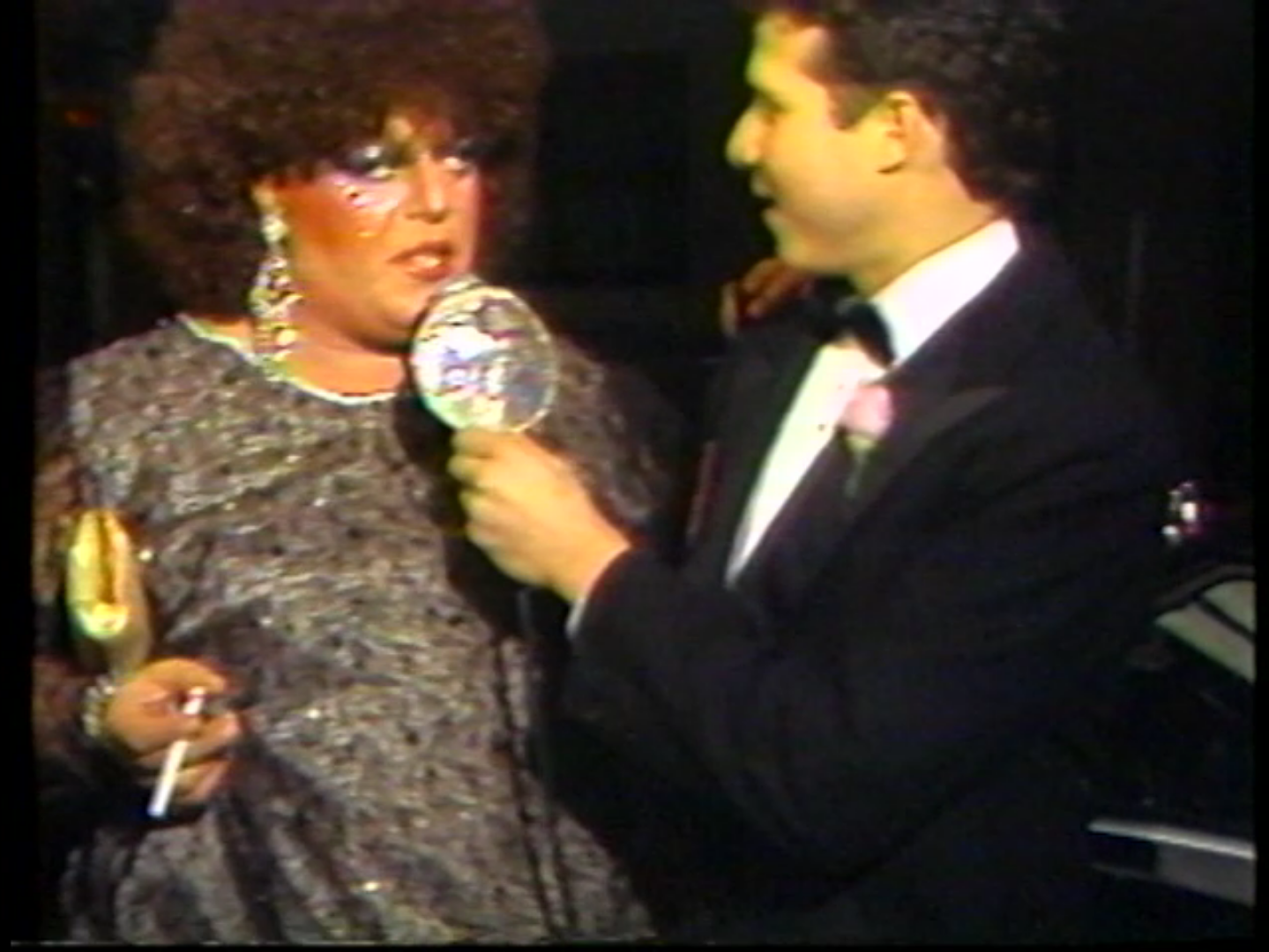 Visiting the Copacabana. 1985. U-matic tape. Still from the item Gay Morning America, Season 2, Show 12.