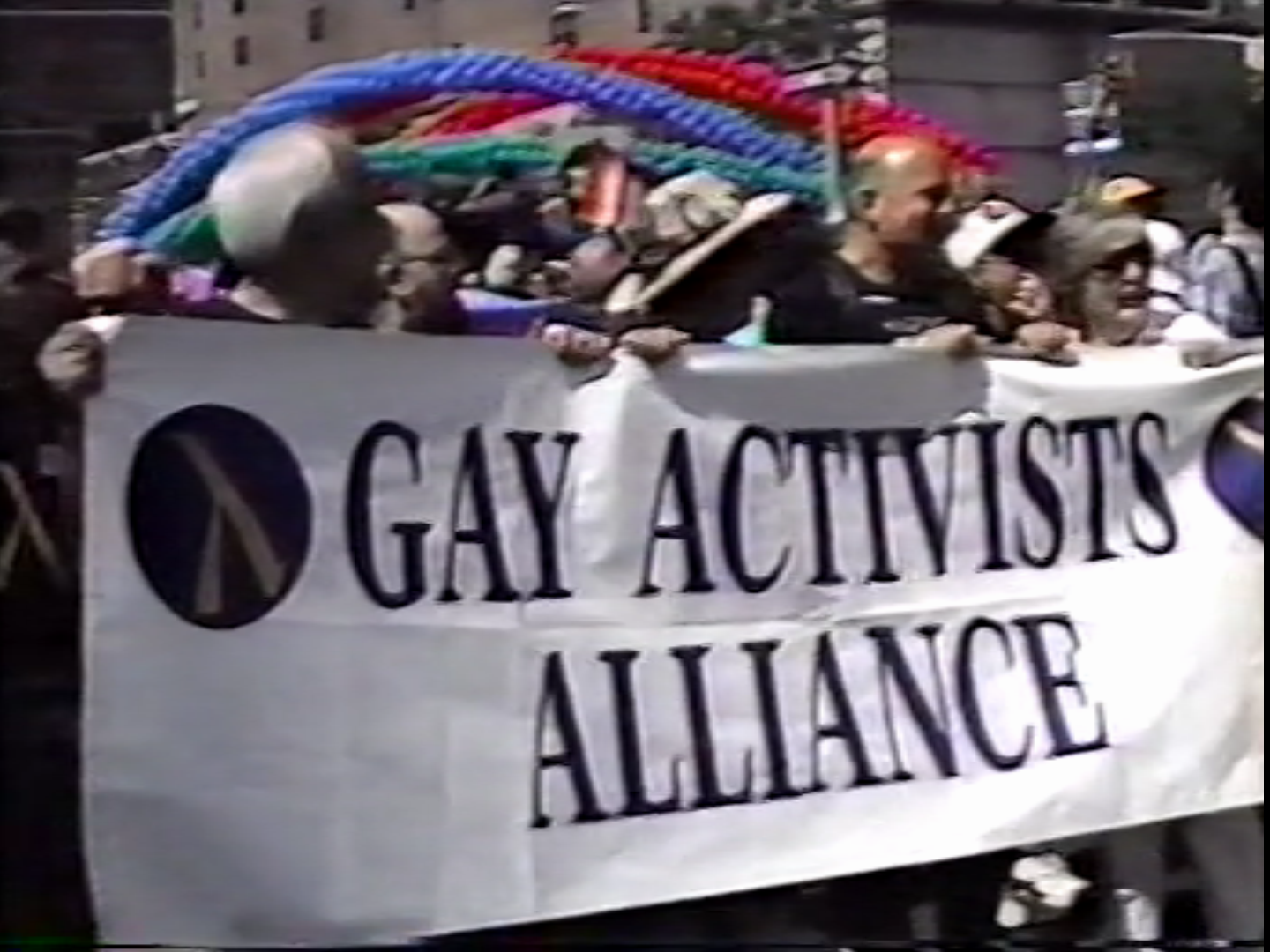 Gay Activists Alliance at the Pride March. 1994. VHS. Still from the item Rudy Grillo Moving Image #8.